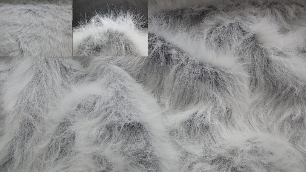 stoffbook stoff stoffe als meterware portofrei grau wei zottelfell polarwolf 7cm kunstfell. Black Bedroom Furniture Sets. Home Design Ideas