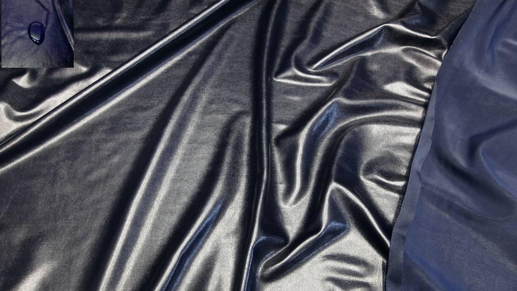 stoffbook stoff stoffe als meterware portofrei schwarzblau bi elastisch glanzjersey. Black Bedroom Furniture Sets. Home Design Ideas